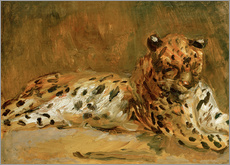 Adesivo murale  Reclining African Leopard - Max Slevogt