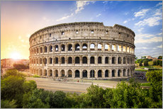 Adesivi murali  Coliseum in Rome Italy at sunset - Jan Christopher Becke