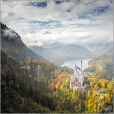 Adesivo murale  Neuschwanstein Castle at Autumn - Dieter Meyrl