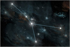Stampa su plexi-alluminio  An artist's depiction of the constellation Cancer. - Marc Ward