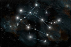Adesivo murale  Artist's depiction of the constellation Gemini the Twins. - Marc Ward