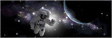 Adesivo murale  Astronaut floating in outer space - Marc Ward