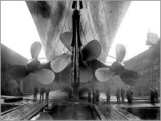 Adesivi murali  Shipyard workers with the Titanic - John Parrot