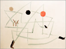 Stampa su plexi-alluminio  Bewitched and hurry - Paul Klee
