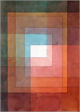 Adesivo murale  White Framed Polyphonically - Paul Klee