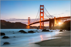 Stampa su plexi-alluminio  Golden Gate Bridge mystical - Matteo Colombo