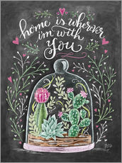Adesivo murale  Home is Wherever I'm with You - Lily & Val