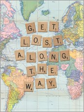 Adesivo murale  Get lost along the way scrabble letters art - Nory Glory Prints