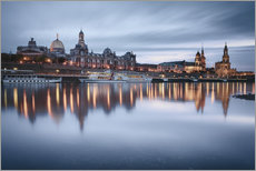 Adesivo murale  Dresden old town at the blue hour - Philipp Dase