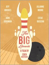 Stampa su plexi-alluminio  The Big Lebowski (inglese) - Golden Planet Prints