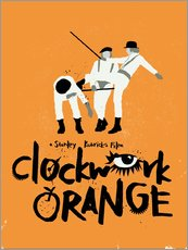 Adesivo murale  Clockwork Orange - Golden Planet Prints