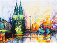 Renate Berghaus - Cologne Cathedral Skyline colored