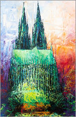 Adesivo murale  Cologne Cathedral Abstract - Renate Berghaus