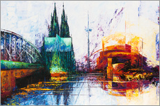 Adesivo murale  Cologne Cathedral Skyline - Renate Berghaus