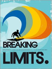 Adesivi murali  Retro Surfer Design breaking limits art print - 2ToastDesign