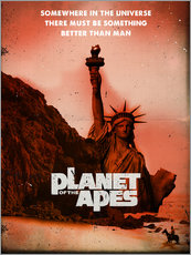 Adesivo murale  Planet of the Apes retro style movie inspired - 2ToastDesign