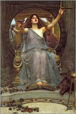Adesivo murale  Circe offre la coppa a Ulisse - John William Waterhouse