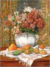 Stampa su plexi-alluminio  Still Life with Flowers and Prickly Pears - Pierre-Auguste Renoir