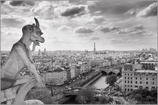 Adesivi murali  Gargoyle over Paris