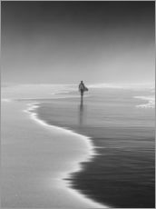 Stampa su plexi-alluminio  Lone surfer at the beach - Alex Saberi