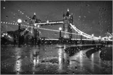 Stampa su plexi-alluminio  Tower Bridge Tears London - Alex Saberi