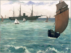 Adesivo murale  The Kearsarge at Boulogne - Edouard Manet