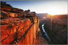 Stampa su plexi-alluminio  Beautiful sunrise on Grand Canyon and river Colorado, USA - Matteo Colombo