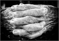 Adesivo murale  Hands of an old man