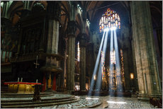 Adesivi murali  Beams of Light inside Milan Cathedral