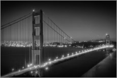 Stampa su plexi-alluminio  Evening Cityscape of Golden Gate Bridge - Melanie Viola