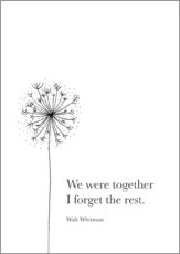 Stampa su plexi-alluminio  We were together - RNDMS