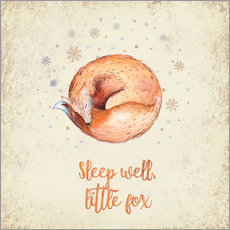 Adesivi murali Sleep well little fox