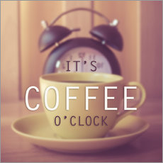Adesivi murali  It's coffee o'clock