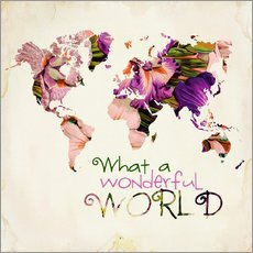 Adesivo murale  What A Wonderful World Map - Mandy Reinmuth
