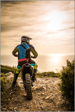 Adesivo murale  Enduro racer on the coast