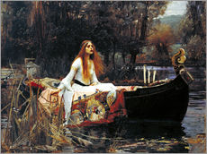 Adesivo murale  The Lady of Shalott - John William Waterhouse