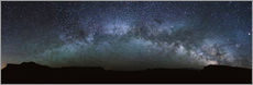 Adesivo murale Panoramic of the Milky way arch in the sky, United States