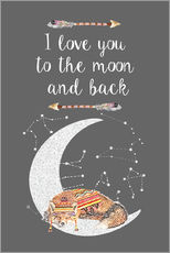 Adesivi murali  I love you to the moon and back - GreenNest