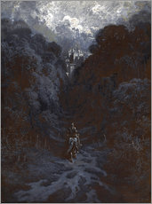 Adesivo murale  Sir Lancelot Approaching the Castle of Astolat - Gustave Doré