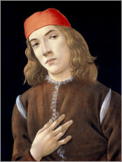 Poster Premium  Portrait of a young man - Sandro Botticelli