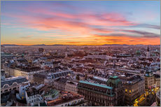 Adesivo murale  Vienna Skyline at sunset, Austria - Mike Clegg Photography