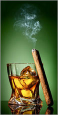 Stampa su plexi-alluminio  Cigar on the rocks