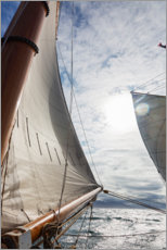 Stampa su plexi-alluminio  Sailing regatta off the Golden Gate Bridge - Skip Brown