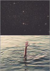 Adesivo murale  Drowning in space - lacabezaenlasnubes