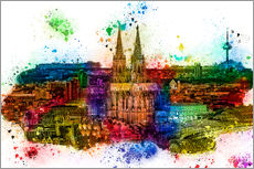 Adesivi murali  Cologne Skyline Cologne Cathedral - Peter Roder
