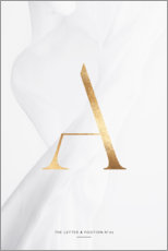 Poster Premium  GOLD LETTER COLLECTION A - Stephanie Wünsche