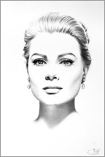 Stampa su tela  Grace Kelly - Ileana Hunter