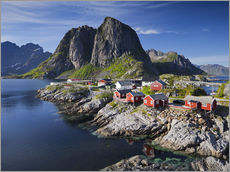 Adesivo murale Reinefjordens red cottages