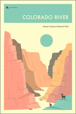 Adesivo murale  GRAND CANYON NATIONAL PARK POSTER - Jazzberry Blue