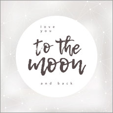 Stampa su plexi-alluminio  To the moon and back - Typobox